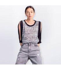 camiseta para mujer en poliester color-gris-talla-xxs
