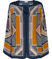 rosetta getty geometric kaftan shirt - orange