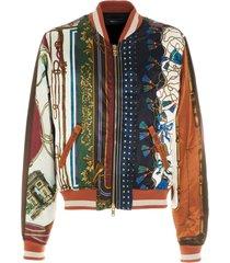 amiri scarf patchwork jacket