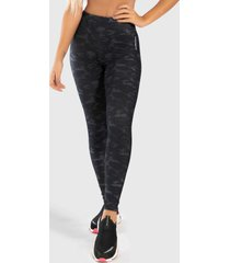 calã§a legging fnation estampa digital camouflaged black - multicolorido - feminino - dafiti