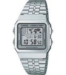 reloj a-500wa-7d casio plateado