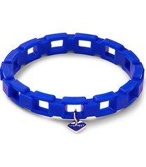 rubber chain & white rhodium-plated bracelet