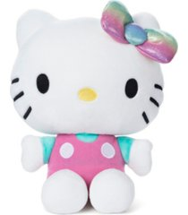 gund sanrio hello kitty pink outfit plush stuffed animal cat, 9.5""