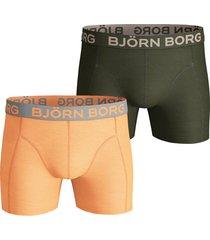 bjorn borg boxershort 2-pak solid oranje