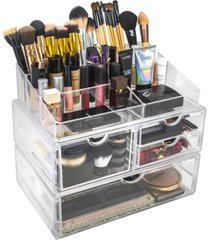 sorbus cosmetics makeup and jewelry storage case display sets - style 1