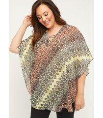 safari lake poncho