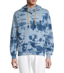 eleven paris men's majolica tie-dye hoodie - blue - size s