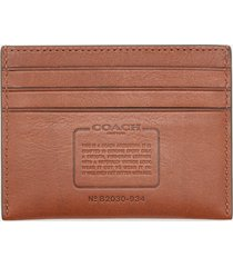 coach men's flat sport calf card case - saddle