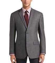 pronto uomo platinum modern fit sport coat charcoal windowpane