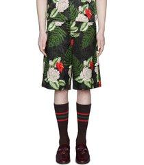 men's gucci hawaiian dream shorts, size 44 eu - black