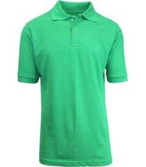 galaxy by harvic men's short sleeve pique polo shirts