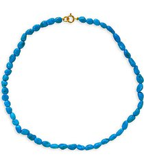 sleeping beauty 14k gold & turquoise necklace