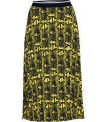 snake plisse sharlotta knälång kjol gul mads nørgaard