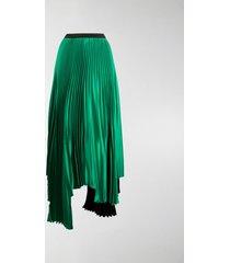 plan c asymmetric pleated skirt