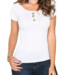 blusa belinda blanco para mujer croydon