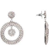 nina jewelry frontal pave hoop earrings