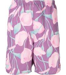 supreme nylon water shorts - purple