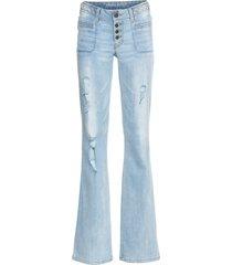 jeans bootcut con intreccio (blu) - rainbow