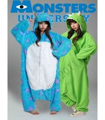 adult monsters university mike wazowski & sulley monsters costume pajamas onesie