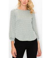 coin 1804 women's jacquard knit button shoulder top