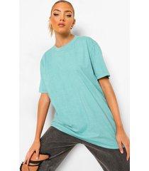 oversized acid wash gebleekt t shirt, green