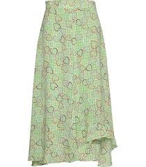 marigold, 783 hearts poly knälång kjol grön stine goya