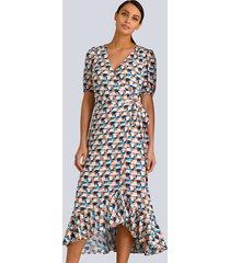 jurk alba moda marine::oranje::offwhite