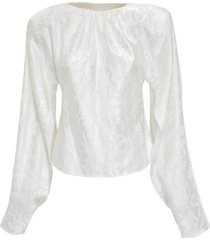 blouse with padded shoulders