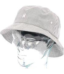 norse projects seersucker bucket hat navy