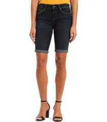 women's mavi jeans karly denim bermuda shorts, size 28 - blue
