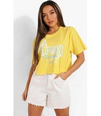 petite kort california t-shirt, yellow