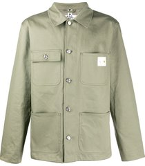 a.p.c. a.p.c x carhartt military shirt - green
