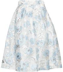 satinka knälång kjol blå baum und pferdgarten
