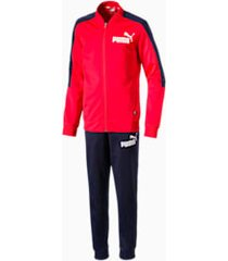 baseball collar boys' track suit, rood, maat 110 | puma