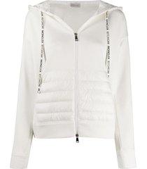 white padded hoodie jacket