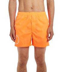 men's valentino vlogo swim trunks, size 46 eu - orange