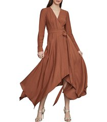 handkerchief hem wrap dress