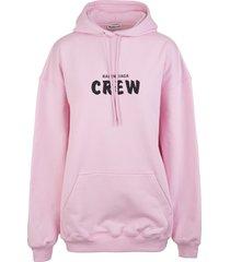 woman pink crew oversize hoodie