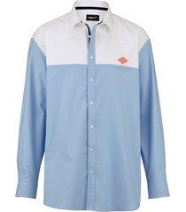 overhemd men plus lichtblauw::wit