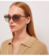 tom ford women's cat eye acetate sunglasses - light brown/green