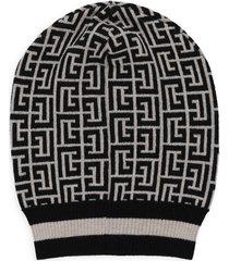 balmain wool beanie hat
