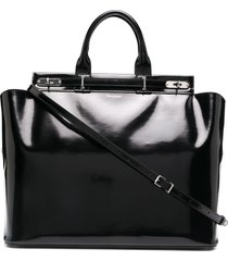 maison margiela structured tote bag - black
