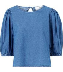 blus slfclarisa puff sleeve top
