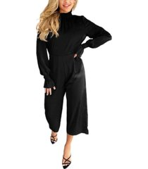 ax paris women's high elastic neck jumpsuit