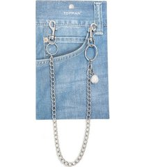 mens cream pearl wallet chain*
