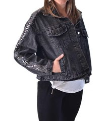 chaqueta jeans oversize negro alexandra cid