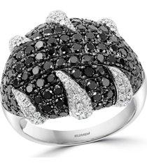 effy black & white diamond statement ring (2-3/4 ct. t.w.) in 18k white gold