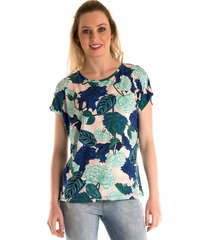 blusa konciny estampada floral verde