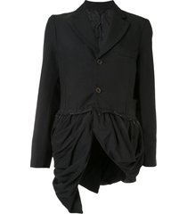 comme des garçons draped hem jacket - black