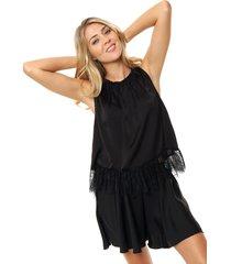 blusa negra asterisco gante